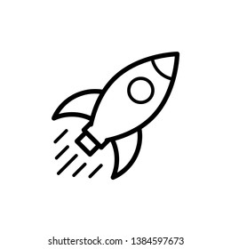Rocket, start up icon vector flat