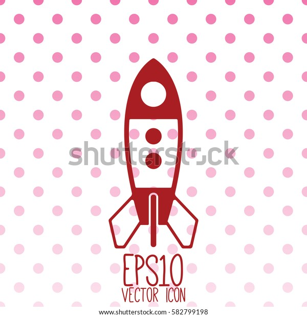 Rocket vector icon. Flat style for graphic and web design, Modern simple vector sign. Internet concept. Trendy symbol for website design web button, mobile app.