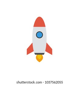 Rocket vector icon. Start Up Concept Symbol Space Roket Ship