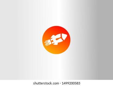 Rocket vector illustration design on white background