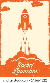 Rocket vintage style