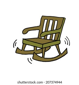 Fine Cartoon Rocking Chair Images Stock Photos Vectors Squirreltailoven Fun Painted Chair Ideas Images Squirreltailovenorg