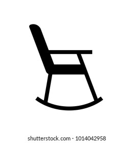 rocking chair glyph icon