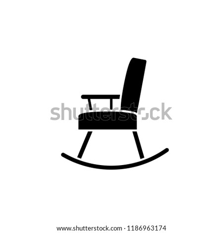 Rocking Chair Icon Clipart Image Isolated Stock Vector Royalty Free