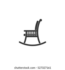 Rocking chair icon flat. Illustration isolated vector sign symbol