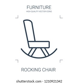 rocking chair icon. high quality line rocking chair icon on white background. from furniture collection flat trendy vector rocking chair symbol. use for web and mobile