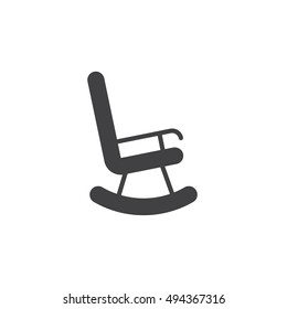 rocking chair icon vector, solid flat sign, pictogram isolated on white, logo illustration