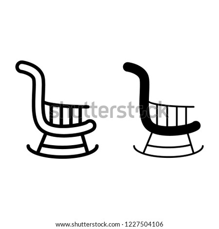 Awesome Rocking Chair Line Glyph Icon Stool Royalty Free Stock Image Squirreltailoven Fun Painted Chair Ideas Images Squirreltailovenorg