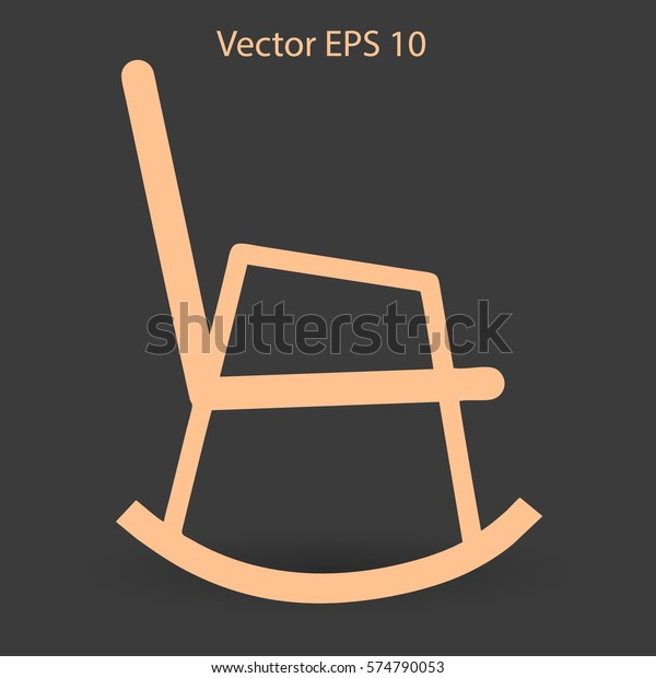 Awesome Rocking Chair Vector Illustration Stock Vector Royalty Free Inzonedesignstudio Interior Chair Design Inzonedesignstudiocom