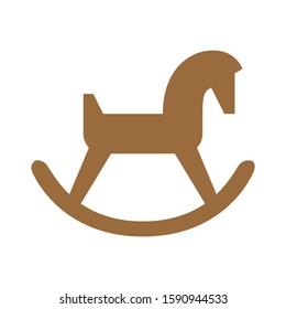 Rocking horse icon. toy horse logo. Vector illustration. toy horse icon