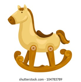 rocking horse vector illustration on a white background