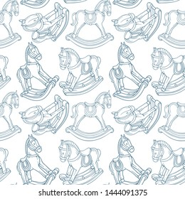 Rocking Horse Outline Images, Stock Photos & Vectors