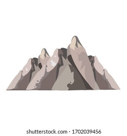 Rocks high mountains icon. Cartoon of rocks high mountains vector icon for web design isolated on white background