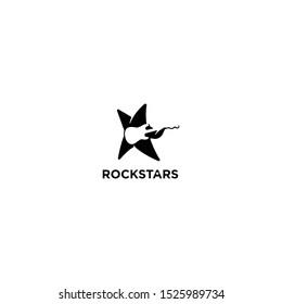 Rockstars logo icon vector art.