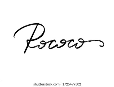 Rococo. Vector hand drawn lettering  isolated. Template for card, poster, banner, print for t-shirt, pin, badge, patch.