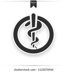 The Rod of Asclepius Aesculapius is an ancient Greek symbol associated with astrology and with healing the sick through medicine.