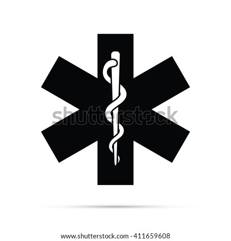 Rod Asclepius Snake Staff Medical Symbol Stock Vector Royalty Free