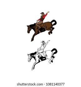 rodeo cowboy illustration