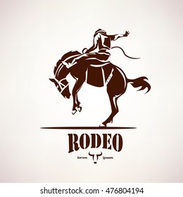 rodeo horse symbol, stylized vector silhouette