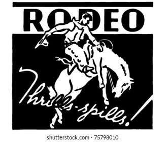Rodeo - Retro Ad Art Banner