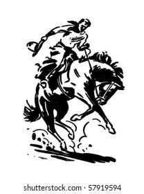 Rodeo Rider 2 - Retro Clip Art