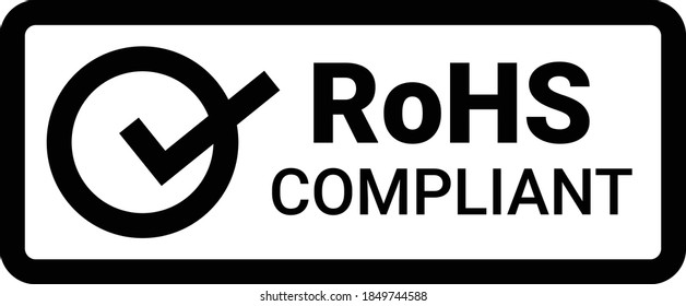 RoHS compliant symbol on white. Stock vector icon