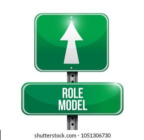 role model street sign illustration design graphic over white