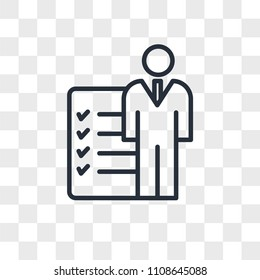 roles and responsibilities vector icon isolated on transparent background, roles and responsibilities logo concept