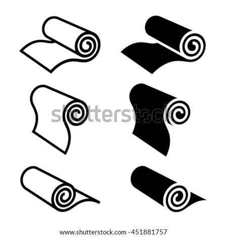 Roll Anything Black Symbol Vector Stock Vector Royalty Free