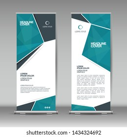 Roll up banner design template, abstract background, business brochure, flyer, vertical, cover presentation, infographics, rectangle size.