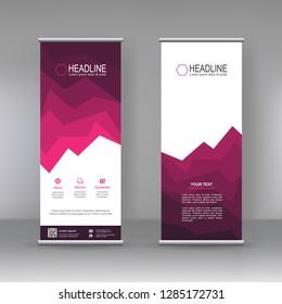 Roll up banner stand brochure flyer vertical template design, infographics, Modern Flag Banner Design. Cover, Annual Report, Magazine,Poster, Corporate Presentation, Flyer, Website. vector abstra