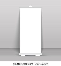 Roll up banner stand isolated on transparent