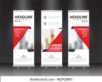 Roll up banner stand vector design.