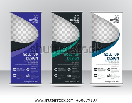 roll banner template design stock vector royalty free 458699107