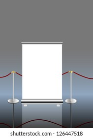 roll up banner,free copy space