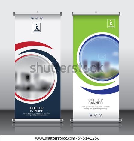 roll brochure flyer banner design template のベクター画像素材