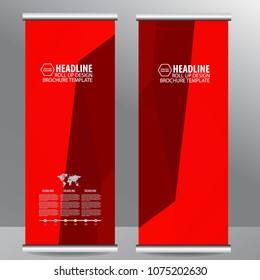 Roll up business brochure flyer banner design vertical template vector, cover presentation ,infographics,abstract geometric background, modern publication x-banner and flag-banner,carpet design.