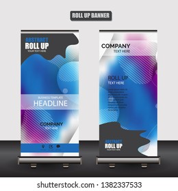 Roll up business brochure flyer banner design vertical template vector, cover presentation abstract geometric background, modern publication x-banner and flag-banner