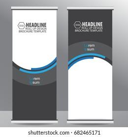 roll up business brochure flyer banner design vertical template vector, cover presentation abstract geometric background, modern publication x-banner and flag-banner,carpet design