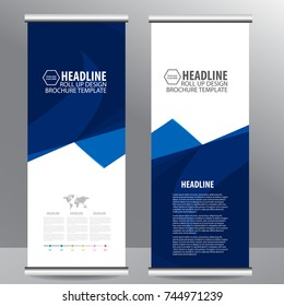 Roll up business brochure flyer banner design vertical template vector, cover presentation ,infographics,abstract geometric background, modern publication x-banner and flag-banner,carpet design.