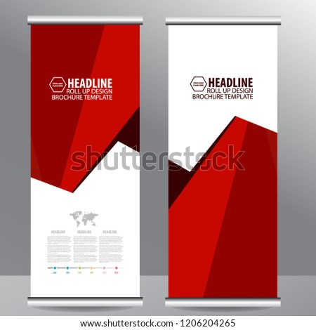 roll business brochure flyer banner design stock vector royalty