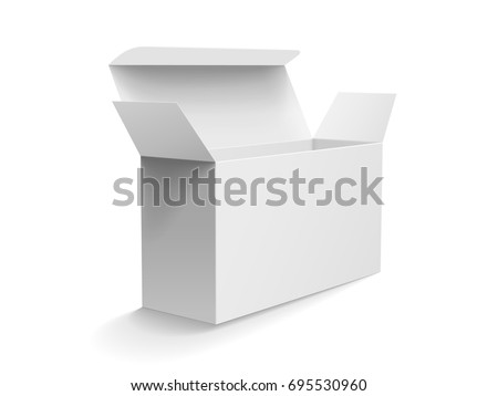 roll end tuck front box mockup stock vector royalty free 695530960