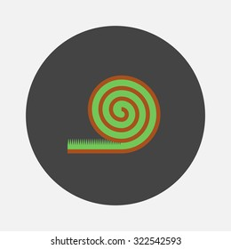 Roll lawn flat icon
