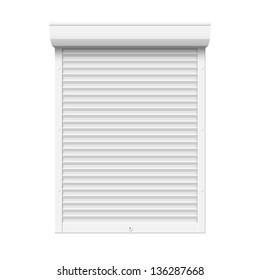 Roll up shutter, vector illustration.