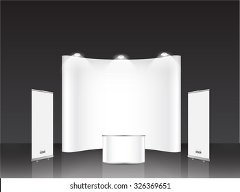 Booth Display Template Images Stock Photos Vectors