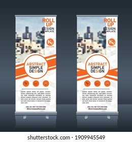 Roll up, pull up, X  banner modern abstract design