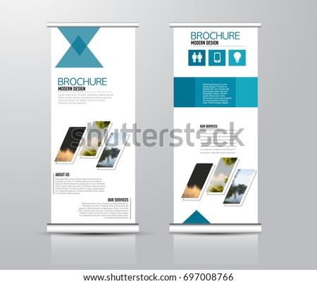 roll vertical banner template stand panel stock vector royalty free