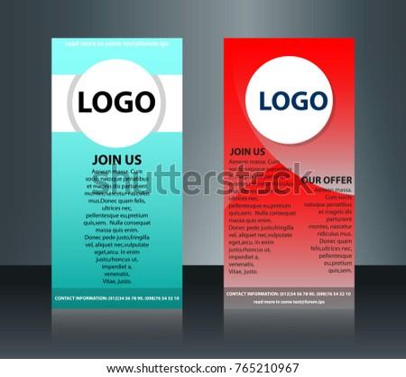 Roller Banner Brochure Template Layout Creative Stock Vector
