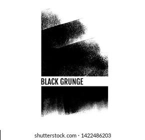 Roller black paint texture. Artistic messy banner background.