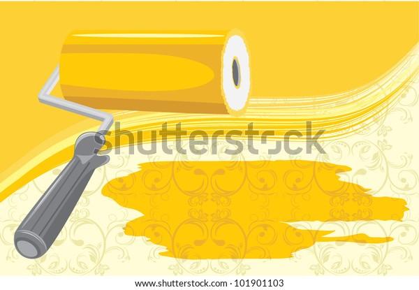 roller-brush-on-decorative-background-60